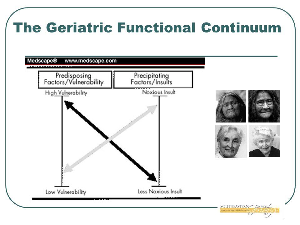 The Geriatric Functional Continuum