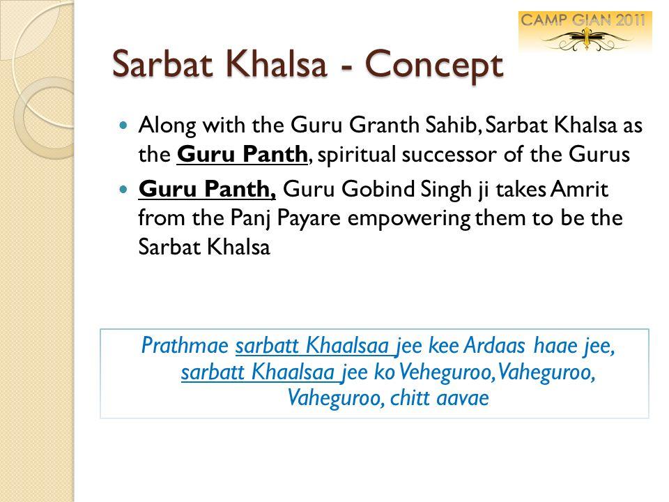 Sarbat Khalsa - Concept Along with the Guru Granth Sahib, Sarbat Khalsa as the Guru Panth, spiritual successor of the Gurus Guru Panth, Guru Gobind Si