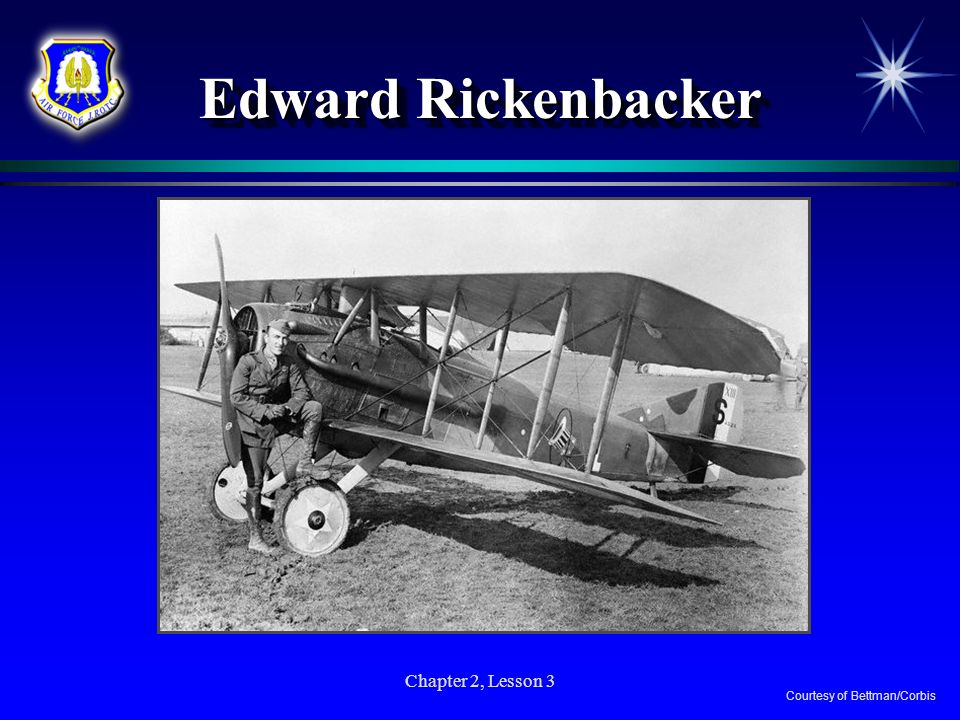 Chapter 2, Lesson 3 Edward Rickenbacker Courtesy of Bettman/Corbis