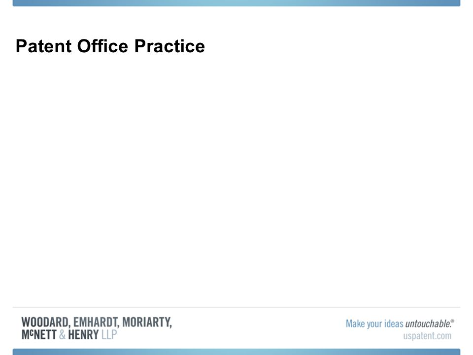 Patent Office Practice