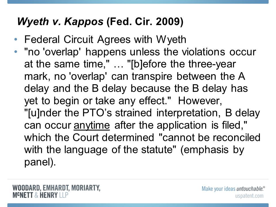 Wyeth v. Kappos (Fed. Cir.