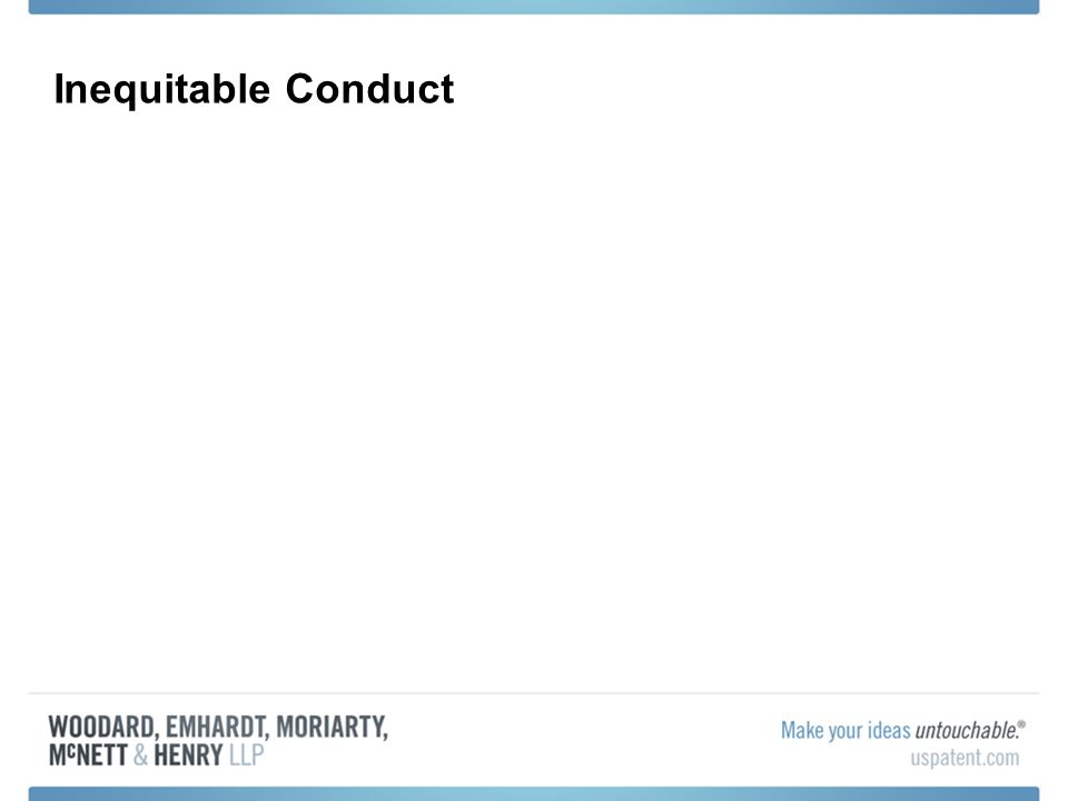 Inequitable Conduct