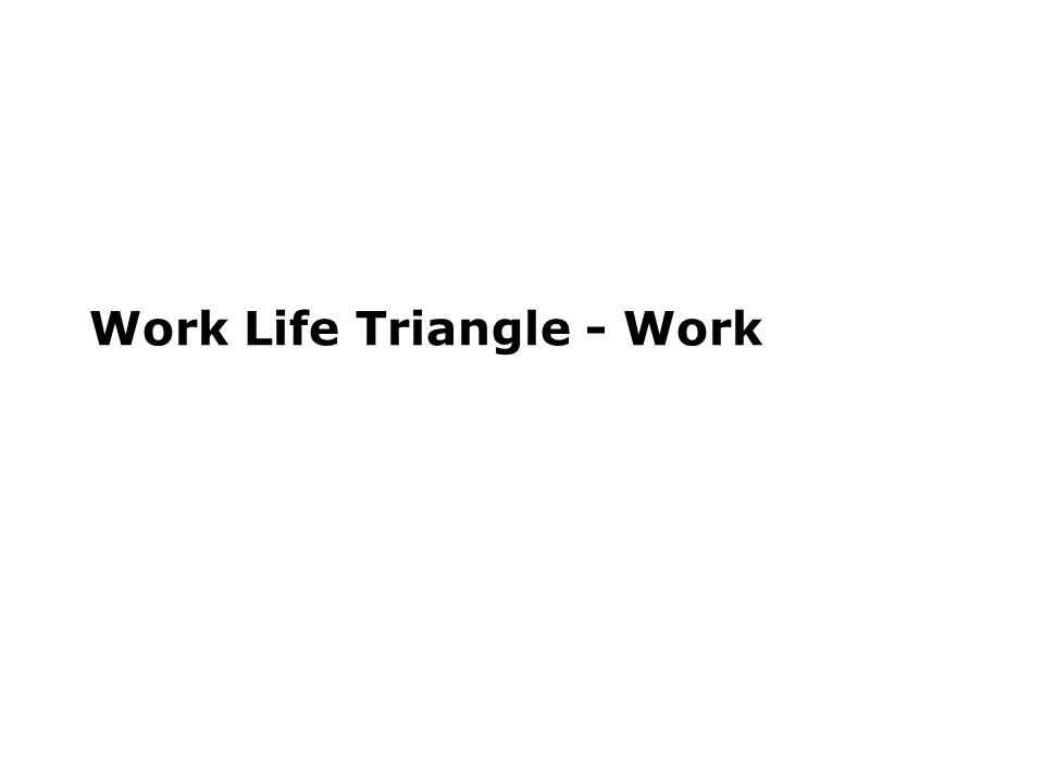 Work Life Triangle - Work