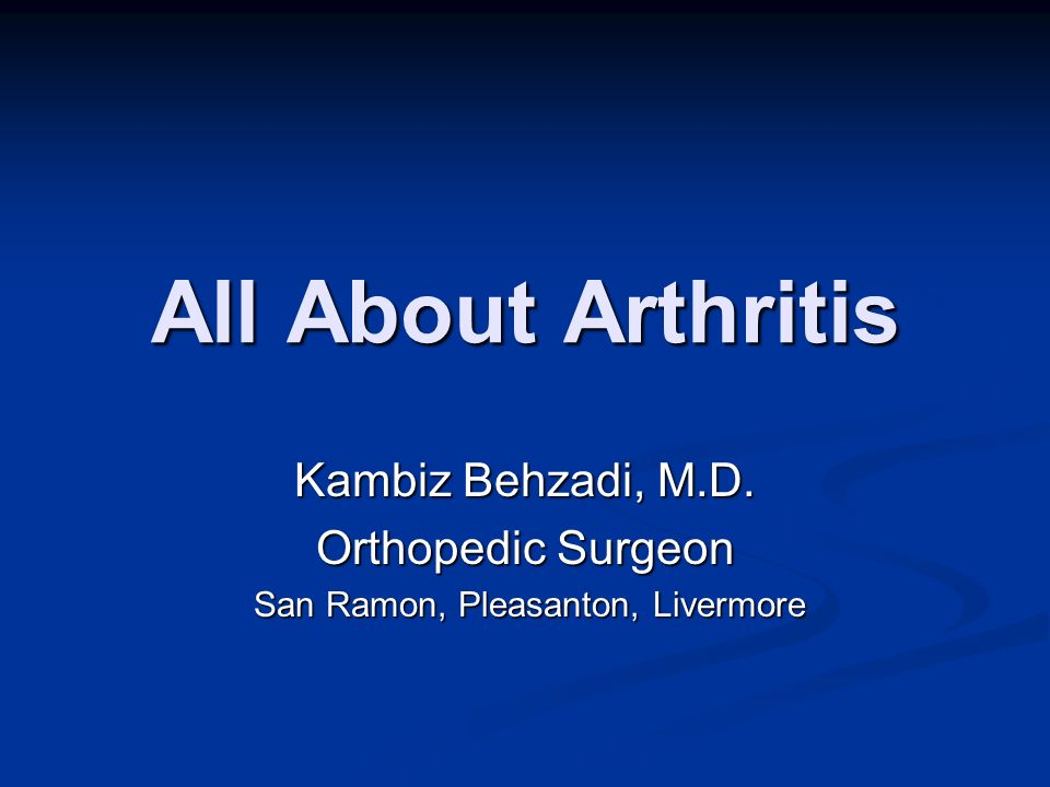 Arthritis and You Musculoskeletal Conditions affect millions of people Musculoskeletal Conditions affect millions of people $254 billion per year spent $254 billion per year spent