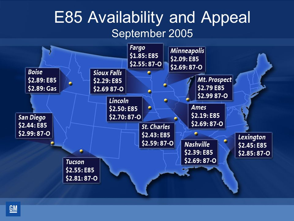 74 E85 Availability and Appeal September 2005