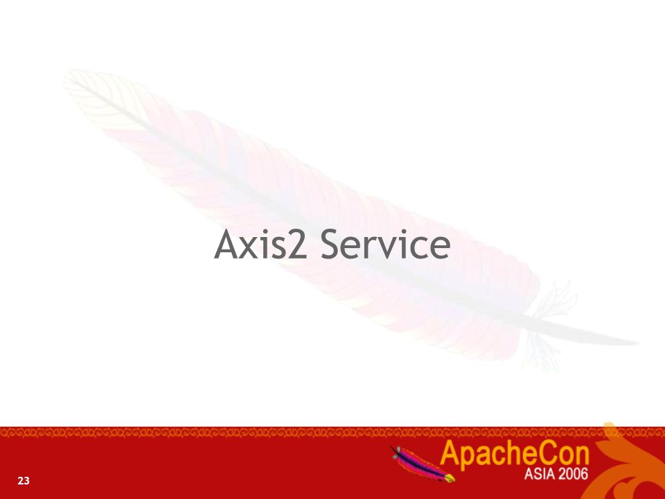 23 Axis2 Service