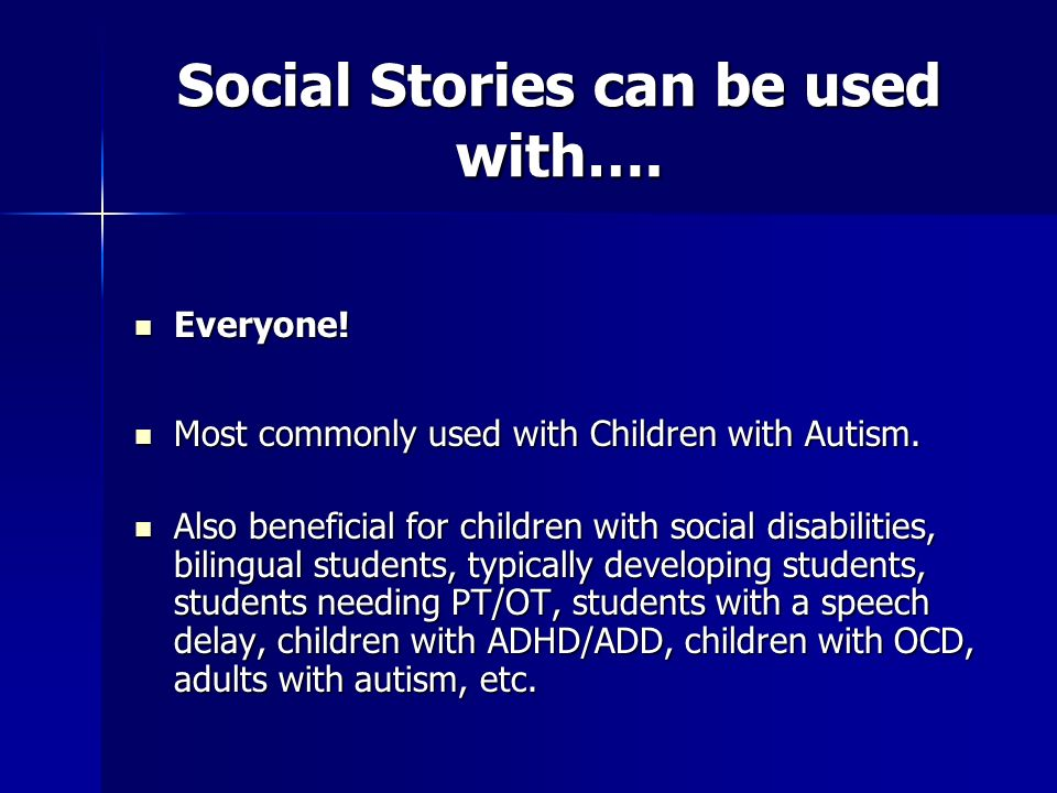 About the books: Im a Daddy and Lets Play Doctor are social story books that were created in order to teach children with autism how to pretend play.