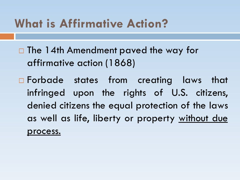Affirmative Action – 2001 Johnson v.