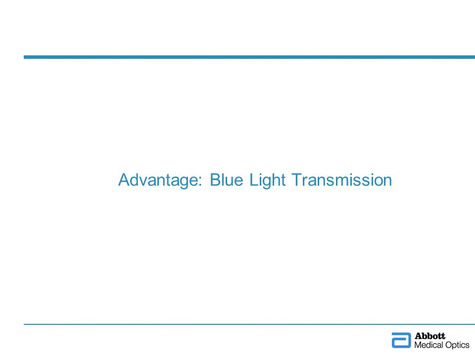Advantage: Blue Light Transmission