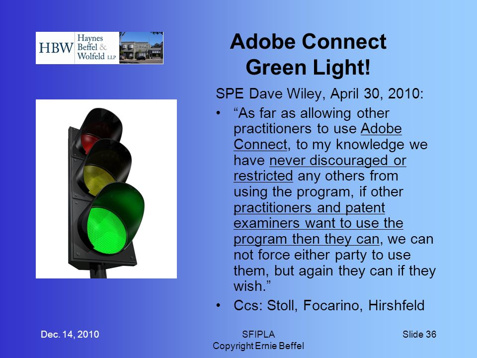 Adobe Connect Green Light.