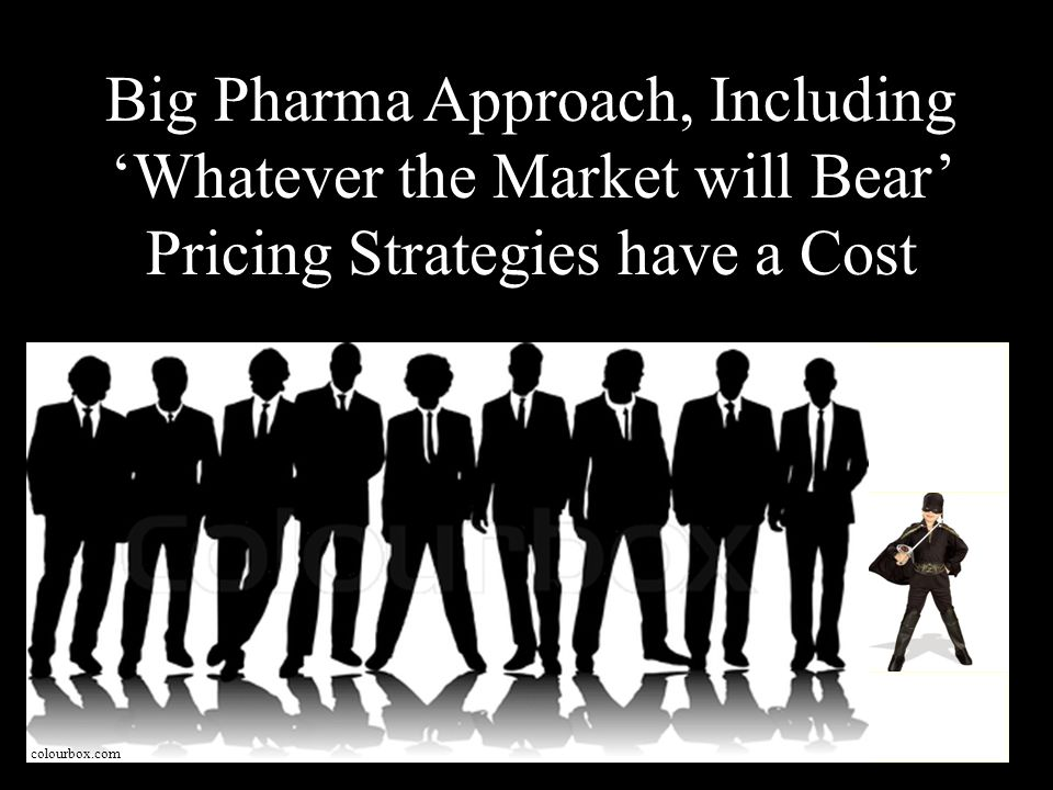 colourbox.com Big Pharma Approach, Including Whatever the Market will Bear Pricing Strategies have a Cost