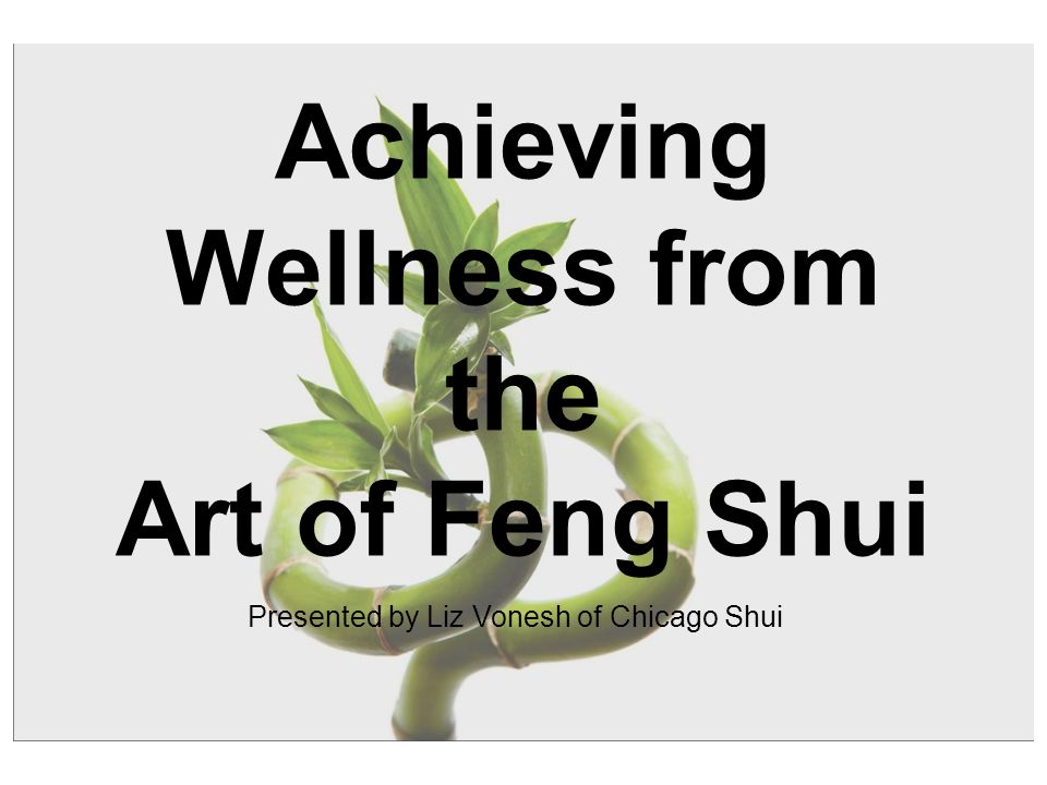 Achieving Wellness from the Art of Feng Shui Presented by Liz Vonesh of Chicago Shui