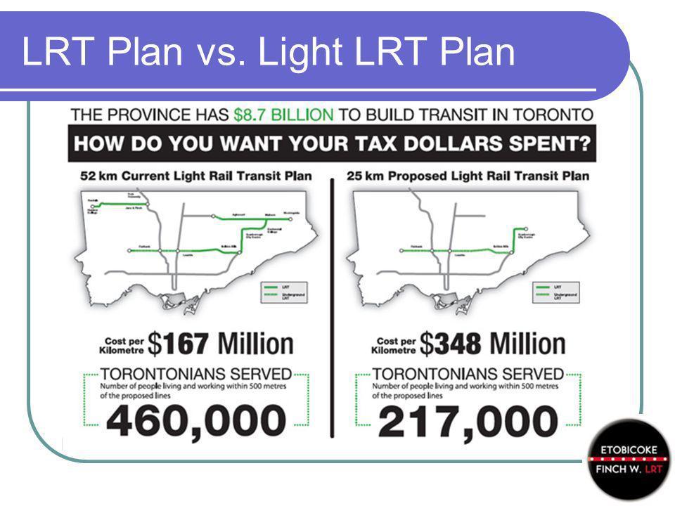 LRT Plan vs. Light LRT Plan
