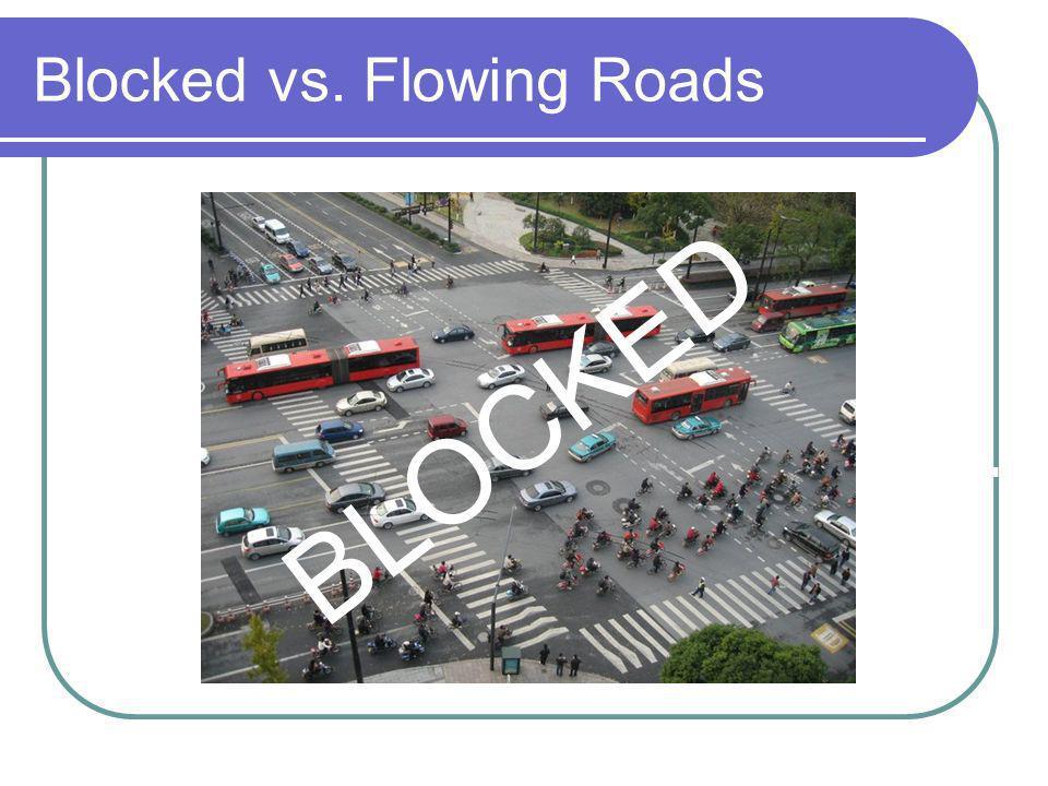 Blocked vs. Flowing Roads BLOCKED FLOWING