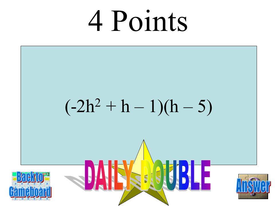 4m 4 - 25 3 points 3-3A
