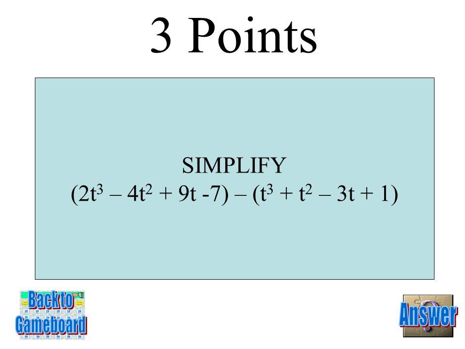 8g 4 – 5g 2 + 11g + 5 2 Points 1-2A
