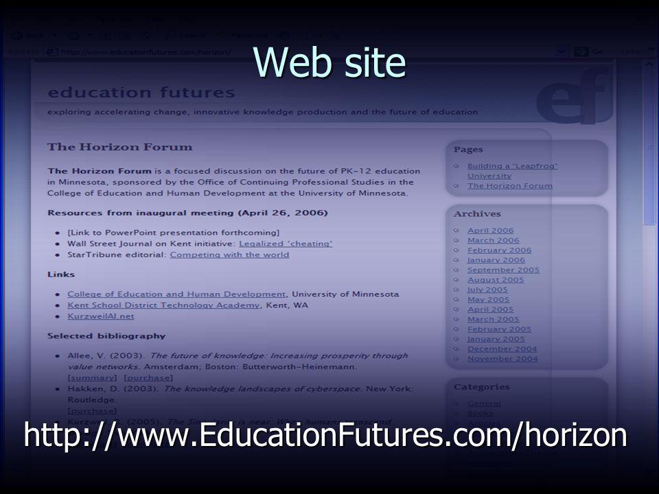 Web site http://www.EducationFutures.com/horizon