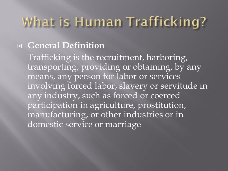 Be aware of your own biases concerning trafficking victims.