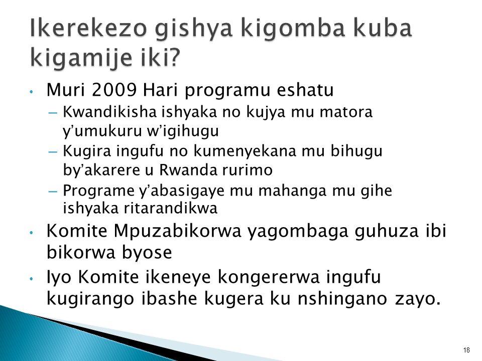 Muri 2009 Hari programu eshatu – Kwandikisha ishyaka no kujya mu matora yumukuru wigihugu – Kugira ingufu no kumenyekana mu bihugu byakarere u Rwanda