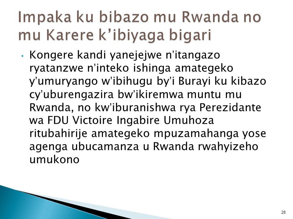Kongere kandi yanejejwe nitangazo ryatanzwe ninteko ishinga amategeko yumuryango wibihugu byi Burayi ku kibazo cyuburengazira bwikiremwa muntu mu Rwan