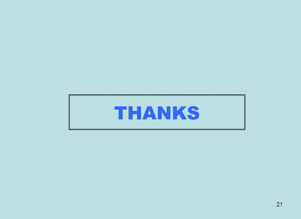 21 THANKS