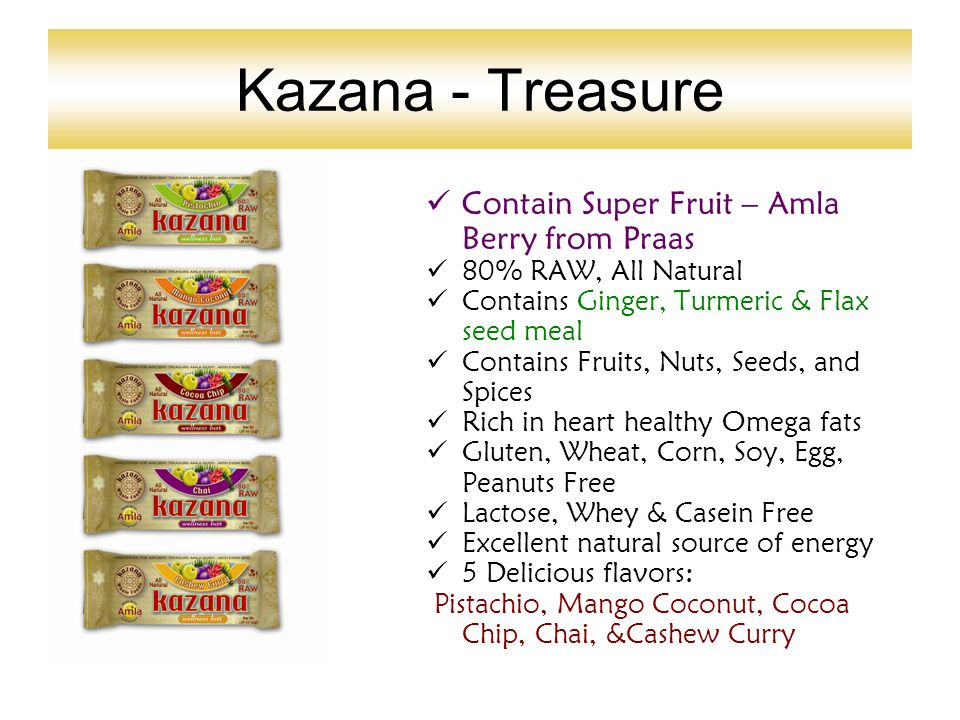 Kazana - Treasure Contain Super Fruit – Amla Berry from Praas 80% RAW, All Natural Contains Ginger, Turmeric & Flax seed meal Contains Fruits, Nuts, S