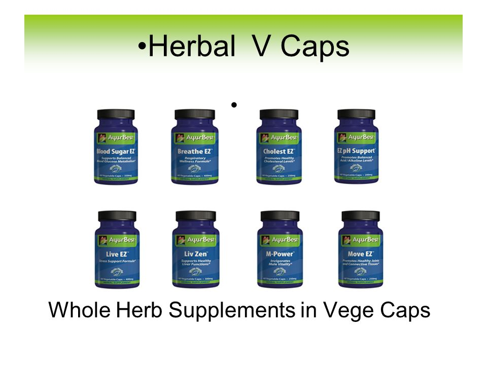 Whole Herb Supplements in Vege Caps Herbal V Caps