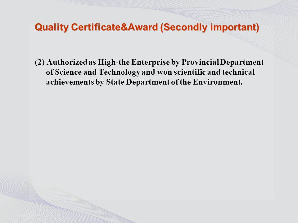 Quality Certificate&Award (most importantly) (1)The products have been passed through ISO9001 and ISO14001 quality standards, also been approved by Chinese bearing association,quality is winning good market in the domestic.