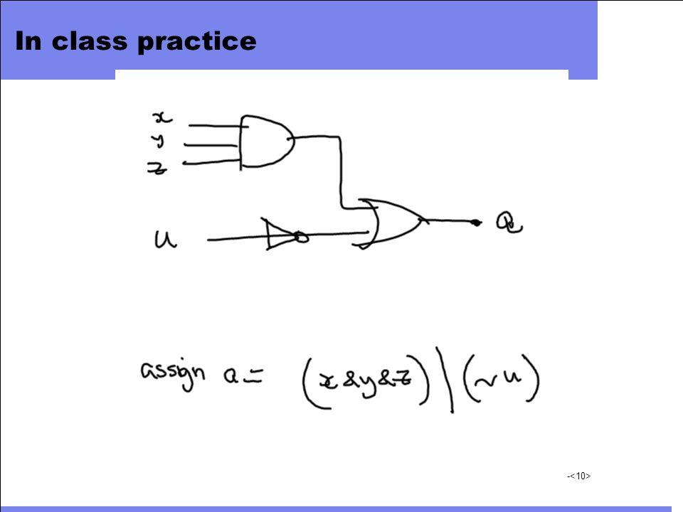 In class practice -