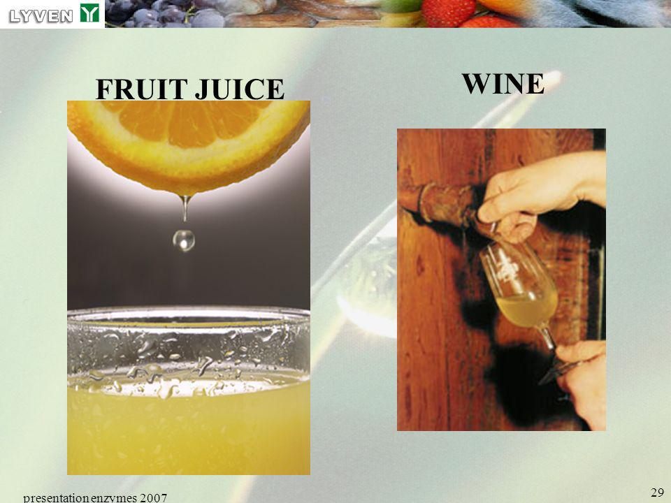 presentation enzymes 2007 29 FRUIT JUICE WINE