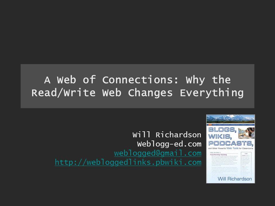 An active, participatory Web