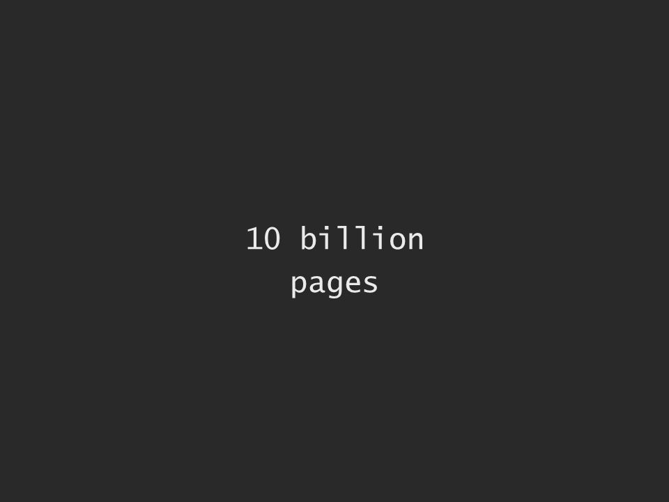10 billion pages