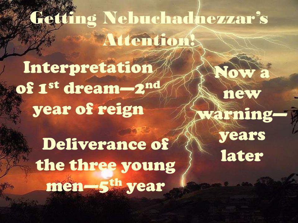 Interpretation of 1 st dream2 nd year of reign Getting Nebuchadnezzars Attention .
