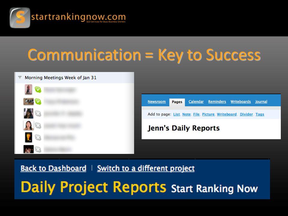 Communication = Key to Success