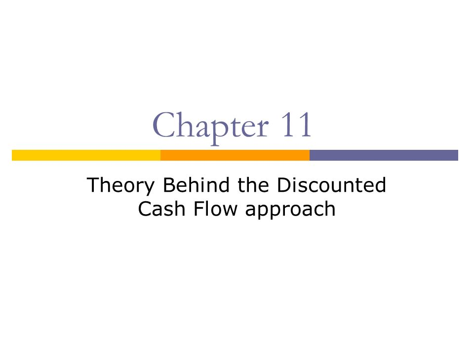 Chapter 11 Theory Behind the Discounted Cash Flow approach