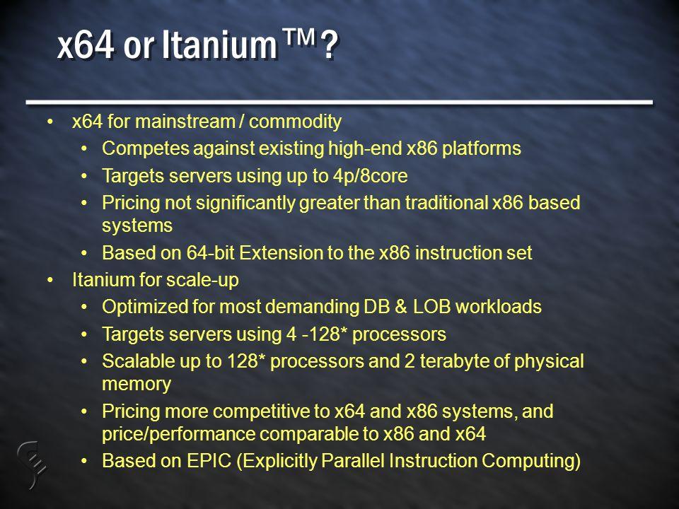 x64 or Itanium .