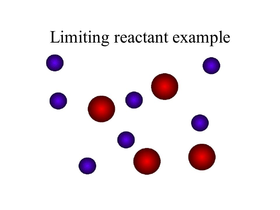 Limiting reactant In the last example, we had HCl in excess. Reaction stopped when we ran out of Ca. limiting reactant.Ca is considered the limiting r