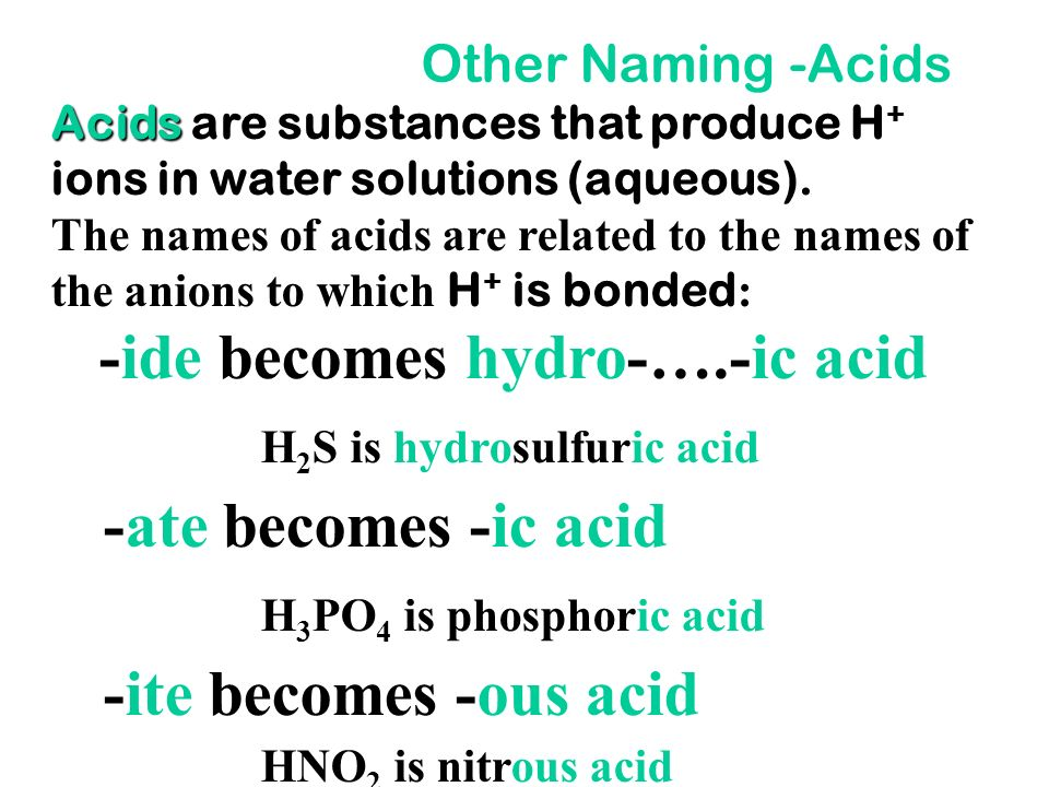 Other Methods of Naming molecules The rule may be modified to improve how a name sounds. Example Example - use monoxide not monooxide. N 2 O 5 CO 2 CO