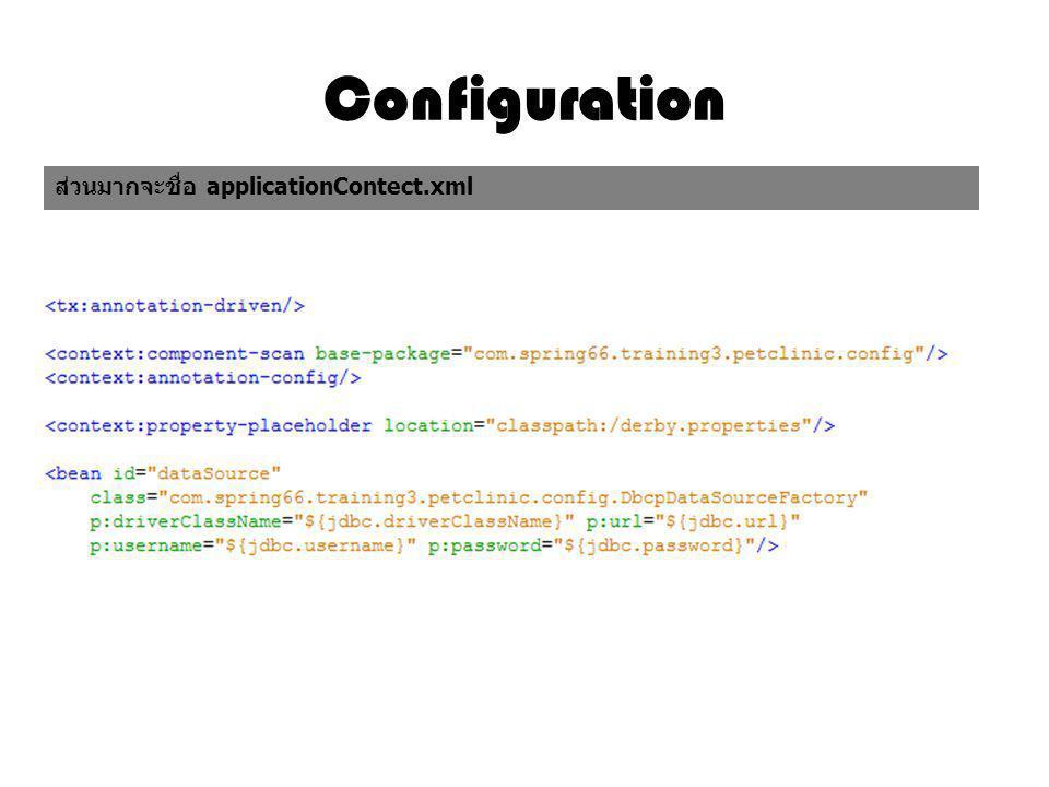 Configuration applicationContect.xml