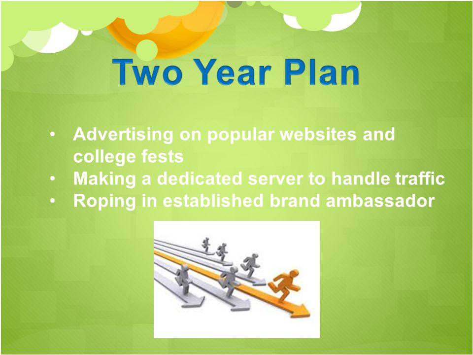 Advertising on popular websites and college fests Making a dedicated server to handle traffic Roping in established brand ambassador
