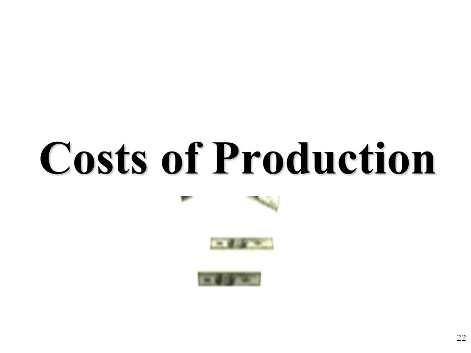 Costs of Production 22