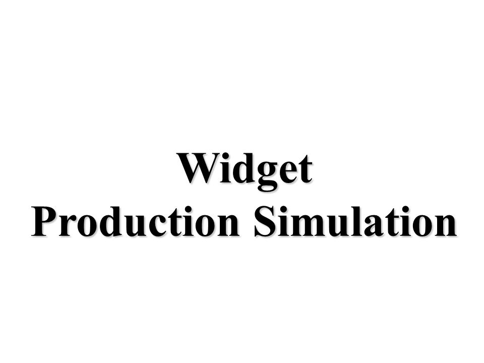 Widget Production Simulation