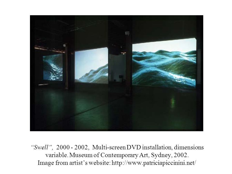 Swell, 2000 - 2002, Multi-screen DVD installation, dimensions variable.