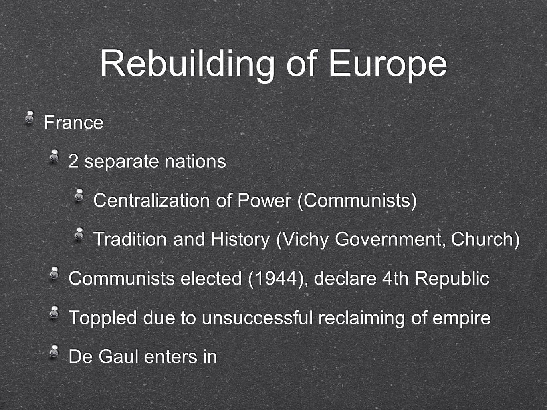 Establishment of European Cooperation 1951- European Coal and Steel Community 1958- European Economic Community 1951- European Coal and Steel Community 1958- European Economic Community