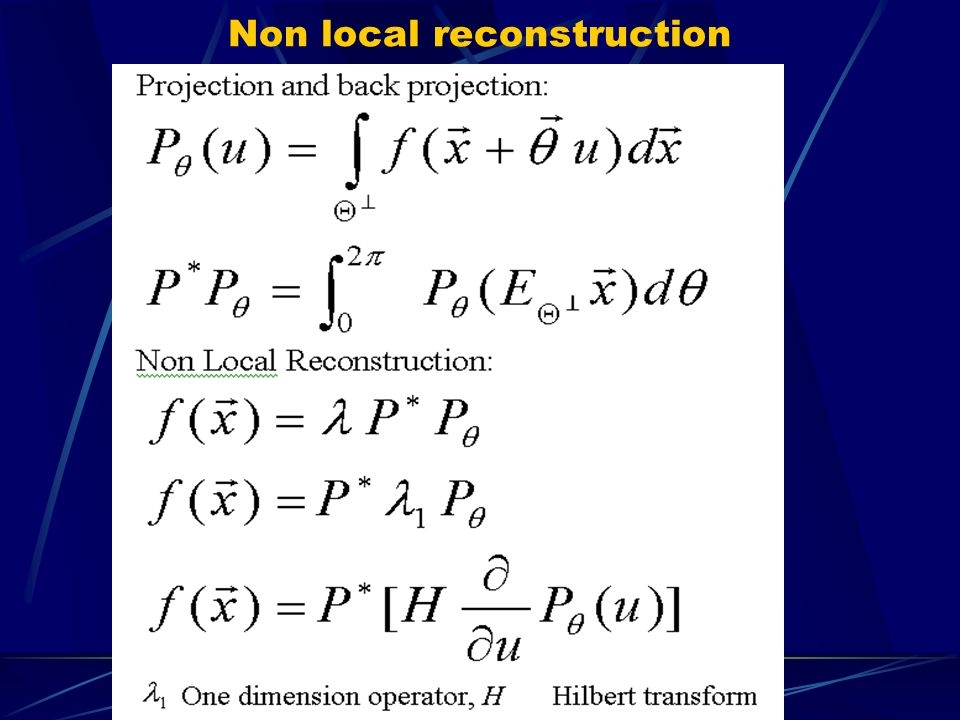 Non local reconstruction
