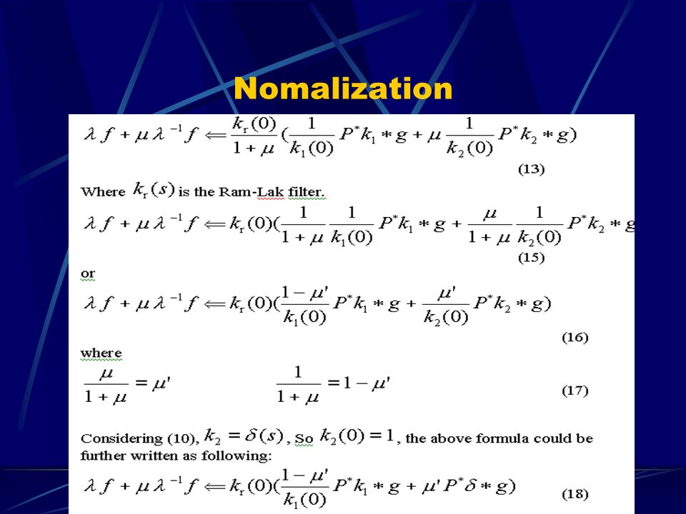 Nomalization