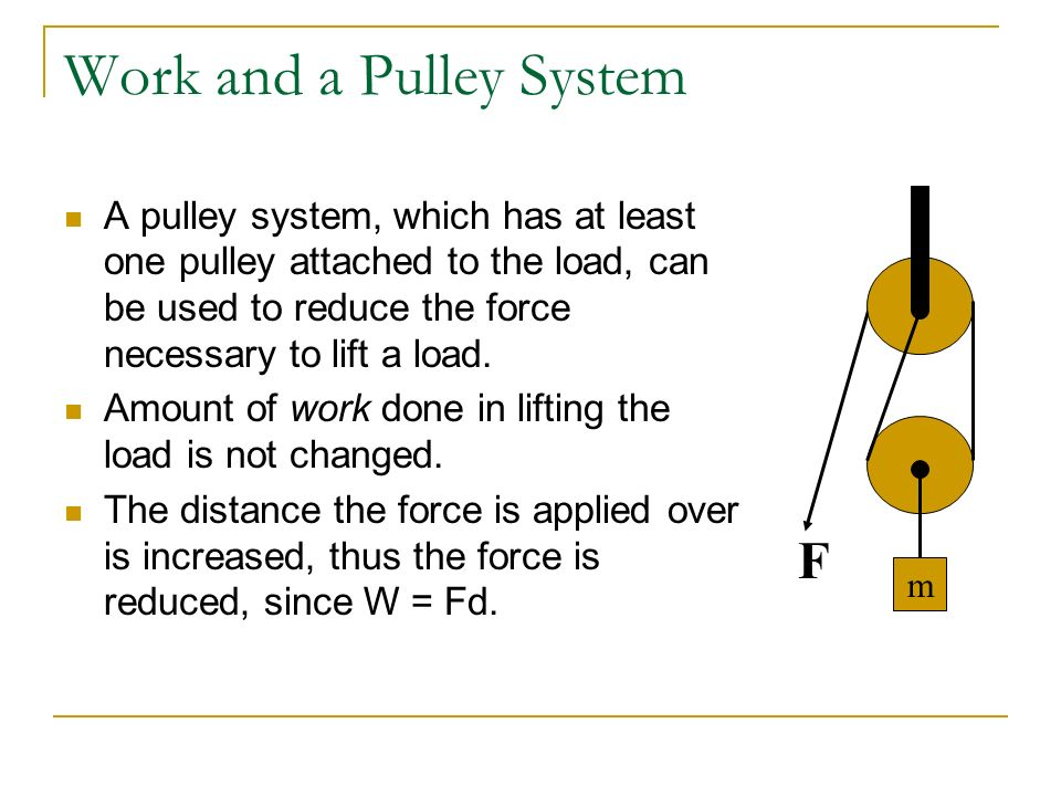 Energy and Work A body experiences a change in energy when one or more forces do work on it. A force does positive work on a body when the force and t
