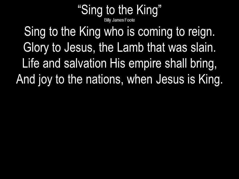 Come, let us sing a song, A song declaring that we belong to Jesus; He is all we need.