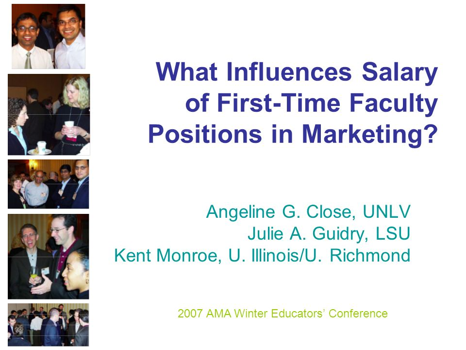 What Influences Salary of First-Time Faculty Positions in Marketing.
