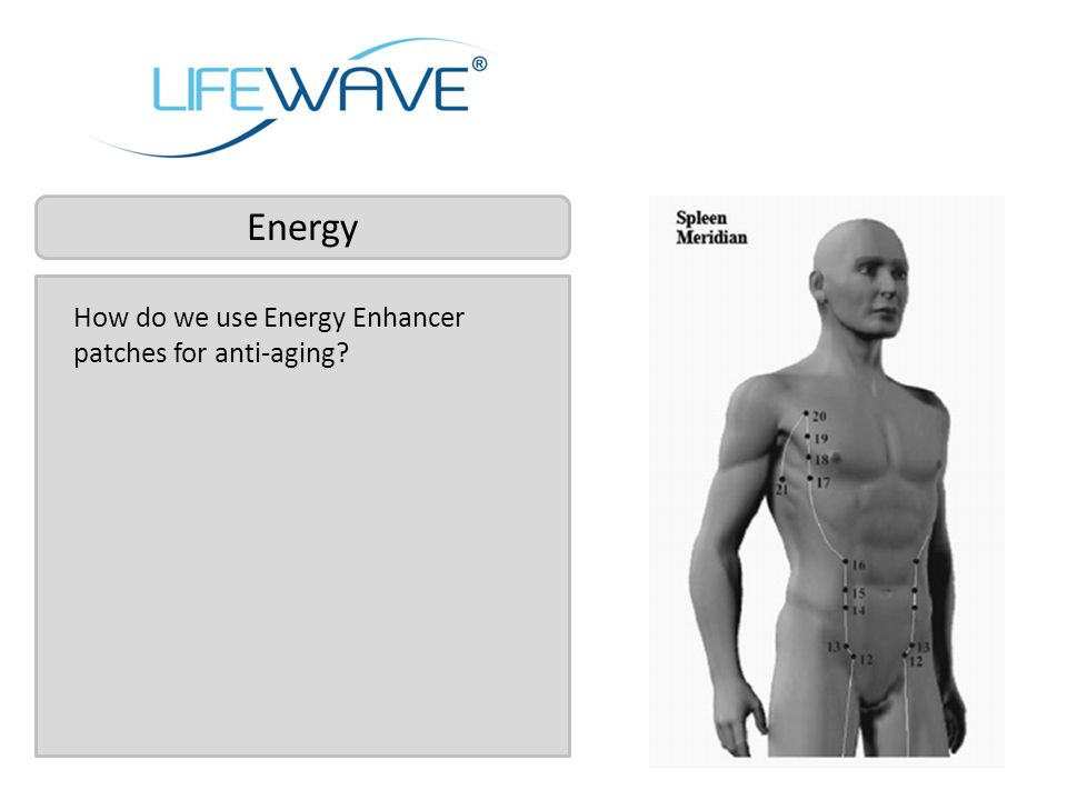 How do we use Energy Enhancer patches for anti-aging? Energy